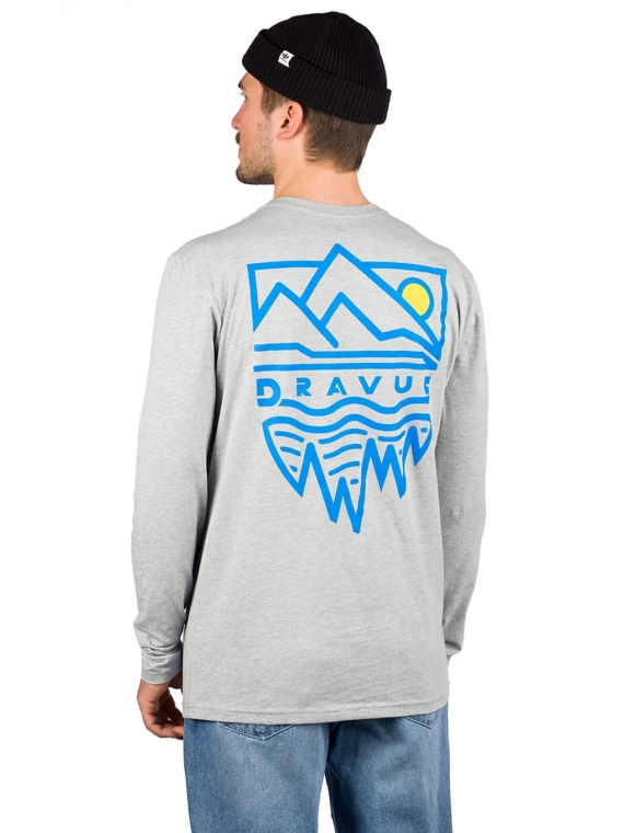 Dravus Mountains Long Sleeve T-Shirt grijs