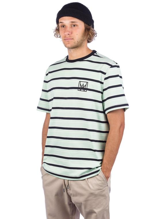 Welcome Icon Stripe vest T-Shirt zwart