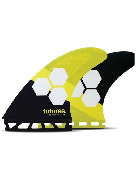 Futures Fins Thruster AM2 Al Merrick Honeycomb Fin Set geel