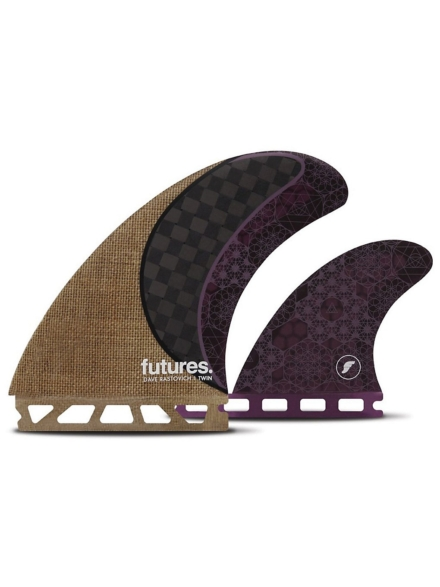 Futures Fins Twin Rasta Honeycomb Carbon Fin Set bruin