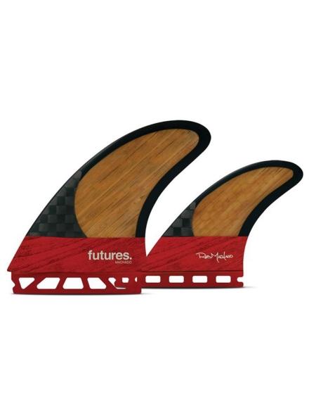 Futures Fins Twin Machado zwartstix Fin Set bruin