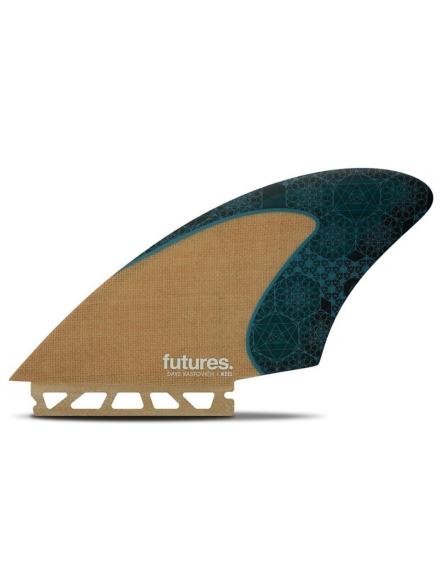 Futures Fins Twin Rasta Keel Honeycomb Jute Fin Set bruin