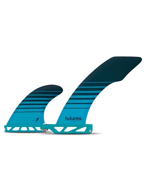 Futures Fins 2+1 Solus hoedchet Honeycomb Fin Set blauw