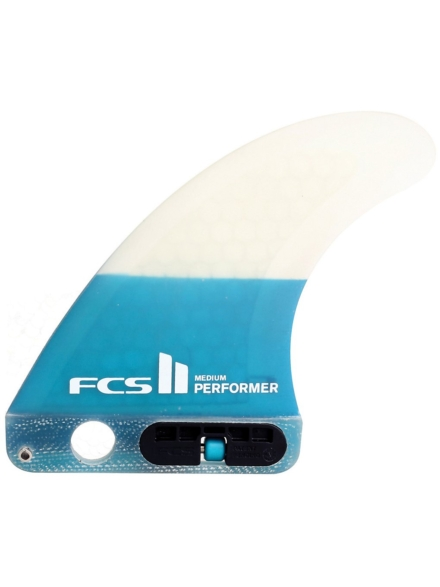 FCS II Performer PC Crbn L Tri Retail Fin Set blauw
