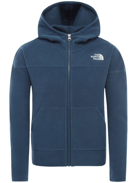 THE NORTH FACE Glacier Hooded Fleece Ski jas blauw