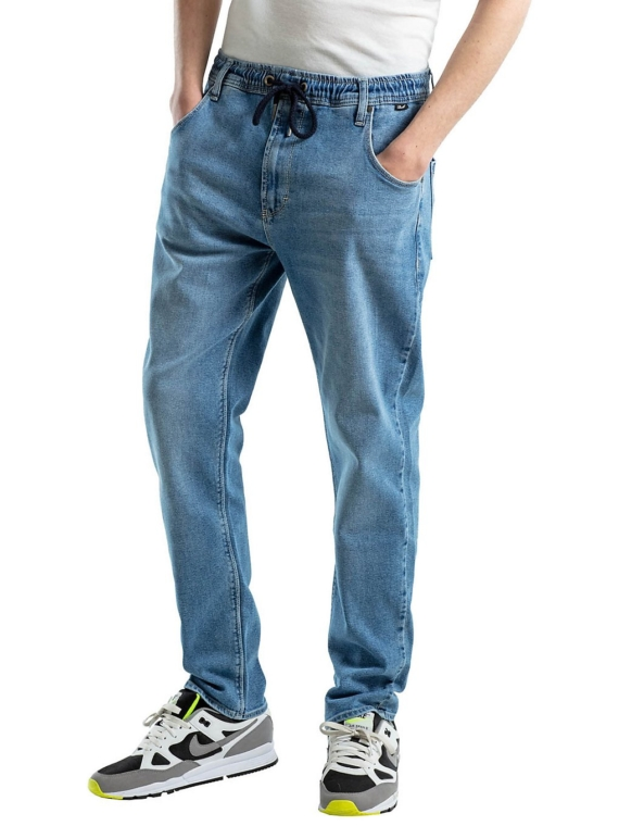 REELL Jogger Jeans blauw