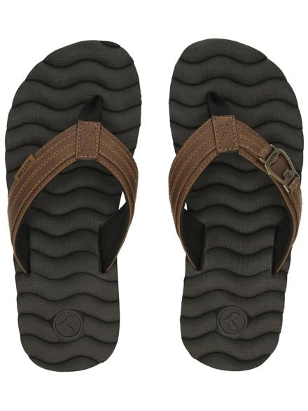 Kustom Hummer Bottlo slippers bruin