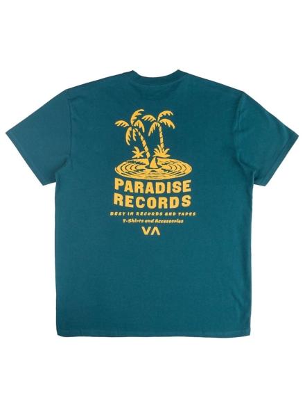 RVCA Paradise Records T-Shirt blauw