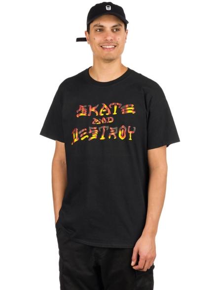 Thrasher Skate And Destroy BBQ T-Shirt zwart