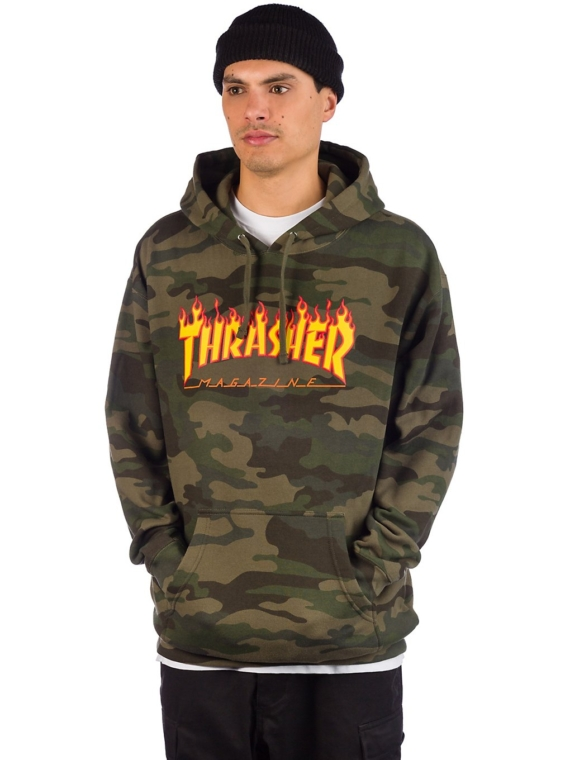 Thrasher Flame Camo Hoodie camouflage