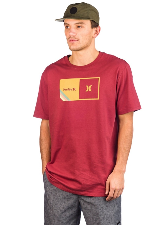 Hurley Halfer Stripe T-Shirt rood