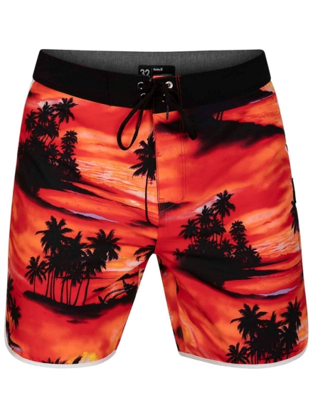 "Hurley Phantom Waikiki 18"" Boardshorts zwart"
