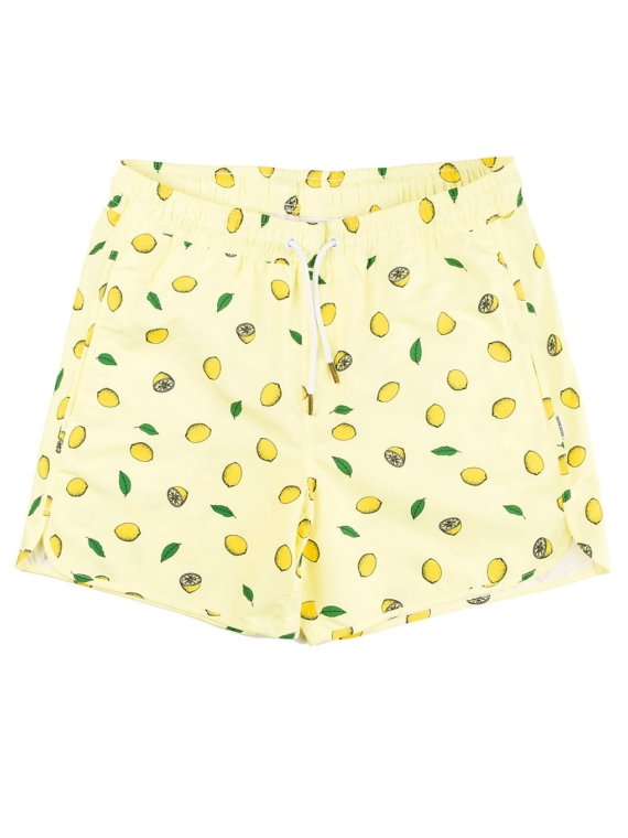 Dedicated Sandhamn Lemons Boardshorts geel