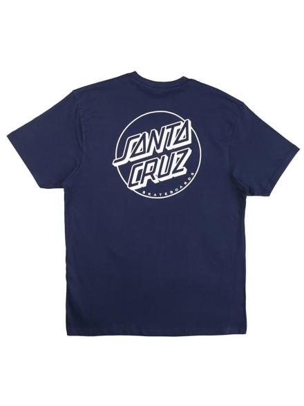 Santa Cruz Opus Dot Stripe T-Shirt blauw