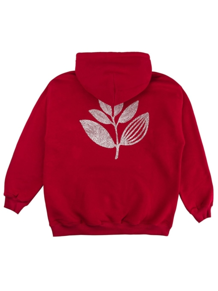 Magenta Points Plant Hoodie rood