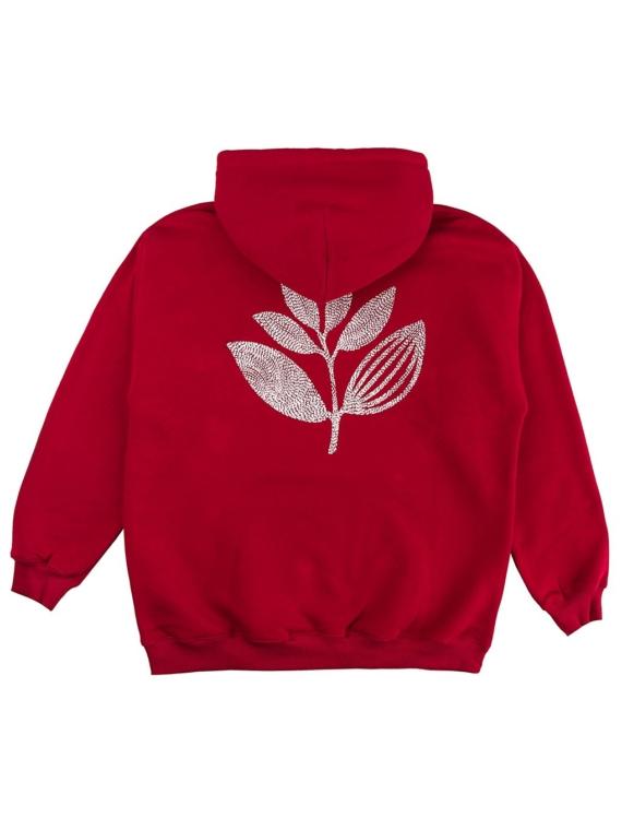 Magenta Points Plant Hoodie rood