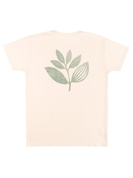 Magenta Points Plant T-Shirt wit