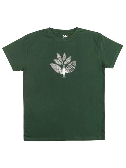 Magenta Peacock T-Shirt rood