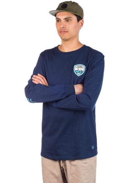 Coal Wallowed Long Sleeve T-Shirt blauw