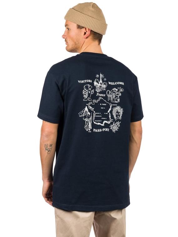 Pass Port France T-Shirt blauw