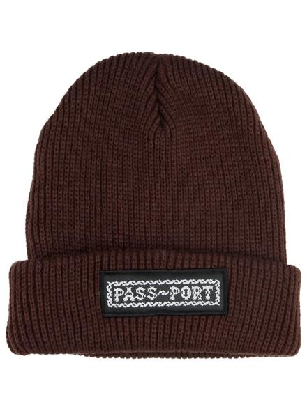 Pass Port Barbs Patch Beanie bruin