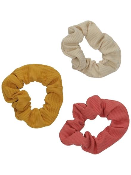 Stone and Locket 3Pk Scrunchie patroon