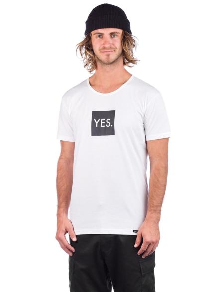YES Box Logo T-Shirt wit
