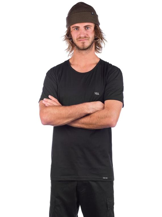 YES Embro T-Shirt zwart