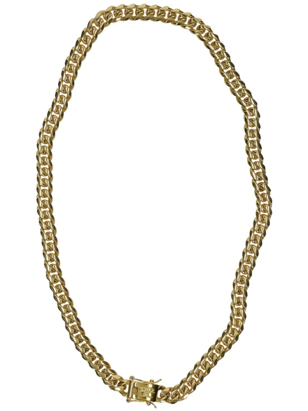 "The Gold Gods 8mm 18"" Miami Cuban Link Chain geel"