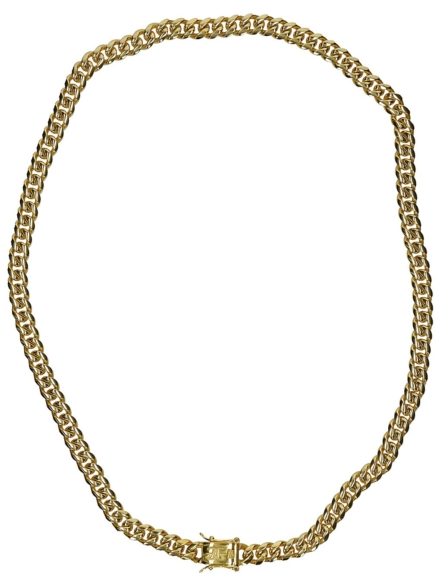 """The Gold Gods 8mm 22"""" Miami Cuban Link Chain geel"""