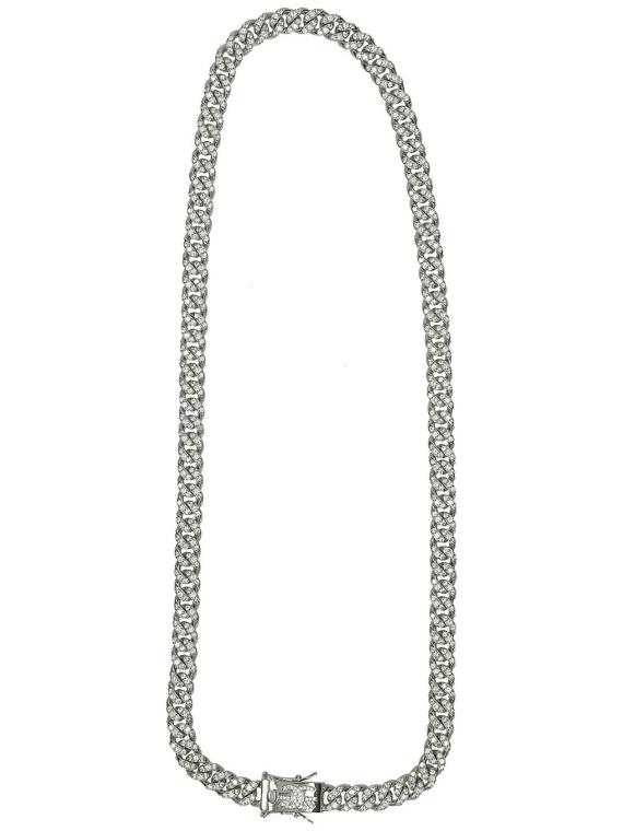 The Gold Gods 8mm 18″ Micro Diamond Cuban Link Chain geel