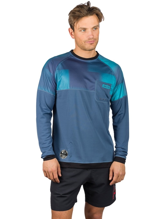 Ion Wetshirt Longsleeve Lycra blauw