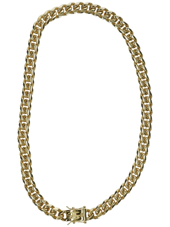 The Gold Gods 10mm 18″ Miami Cuban Link Chain geel