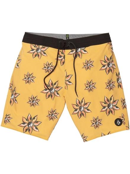 "Volcom Burch Stoney 19"" Boardshorts geel"