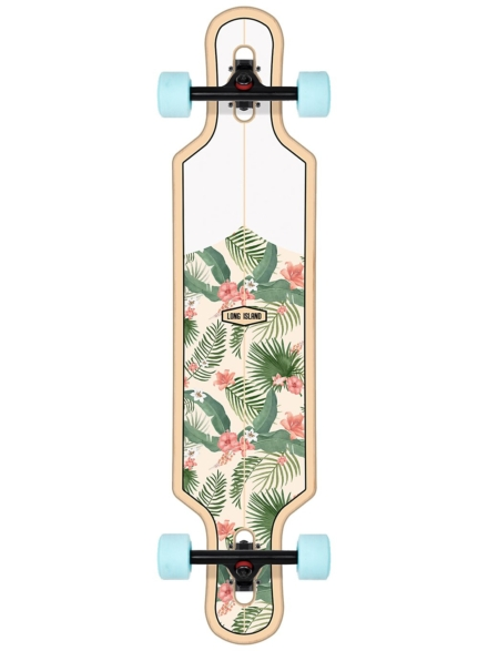 "Long Island Longboards Shaka 39.0"" Drop Through Complete patroon"