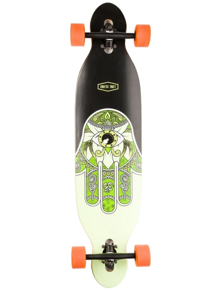 "Long Island Longboards Raise 38.5"" Essent Drop Through Complete patroon"