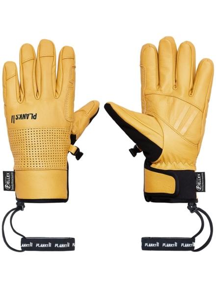 Planks Hunter lederen handschoenen geel