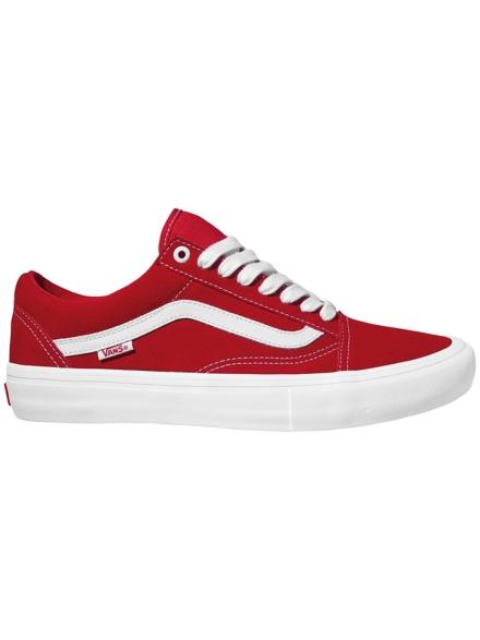 Vans Old Skool Pro Suede Skate schoenen rood
