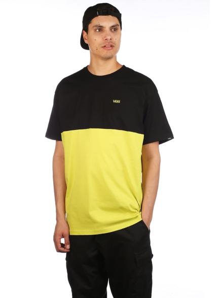 Vans Colorblock T-Shirt geel