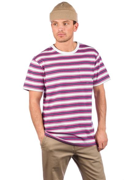 Vans Knollwood Stripe T-Shirt wit