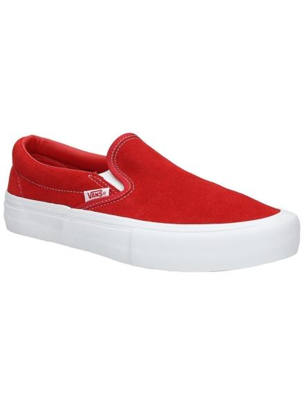 Vans Pro Suede Slip-Ons rood