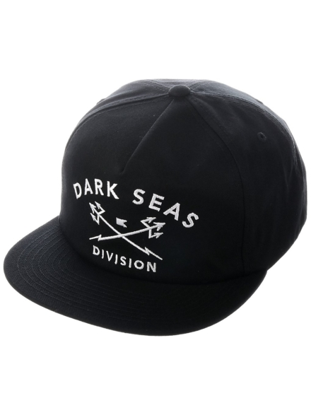 Dark Seas Tridents Snapback Unstructured petje zwart