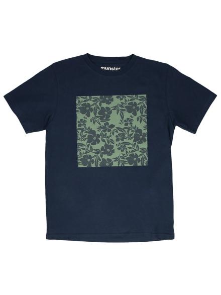 Munsterkids Flower Mat T-Shirt blauw
