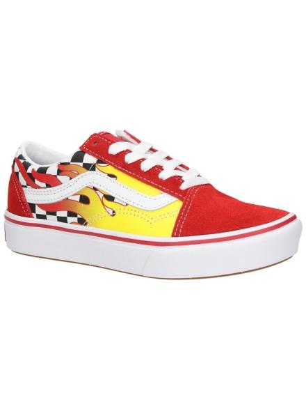 Vans Comfycush Old Skool Flame Sneakers rood