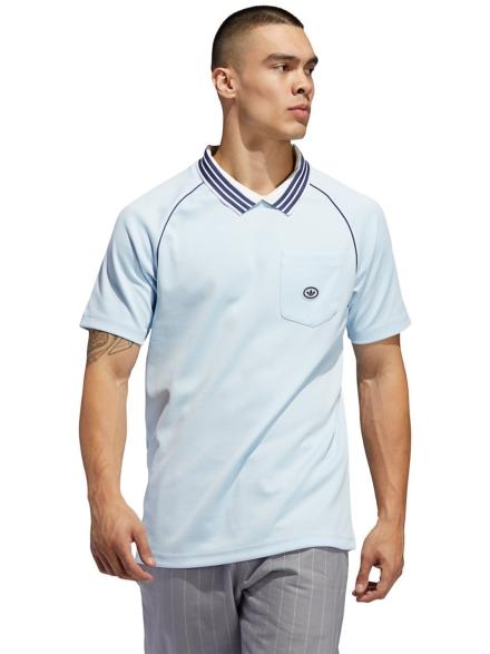 adidas Skateboarding Mockey Jersey T-Shirt blauw