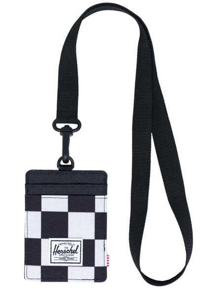 Herschel Charlie Lanyard RFID Portemonnee zwart