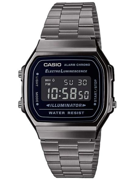 Casio A168WEGG-1BEF grijs