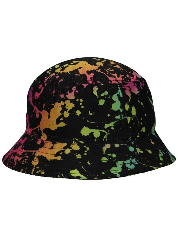 Empyre Staci Splatter Bucket hoed zwart