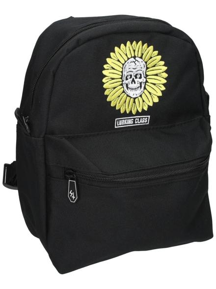 Lurking Class Flower Skull Mini rugtas zwart