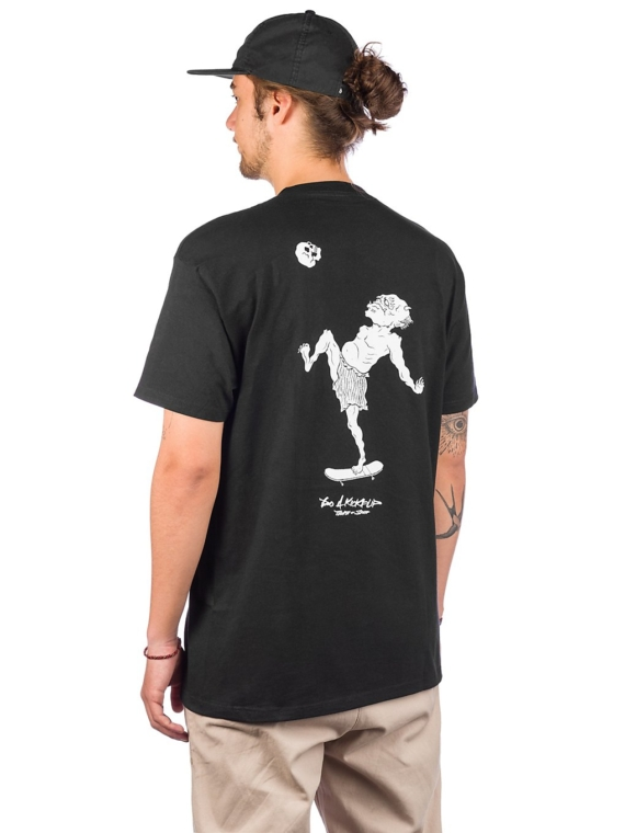 Temple of Skate Kickflip T-Shirt zwart